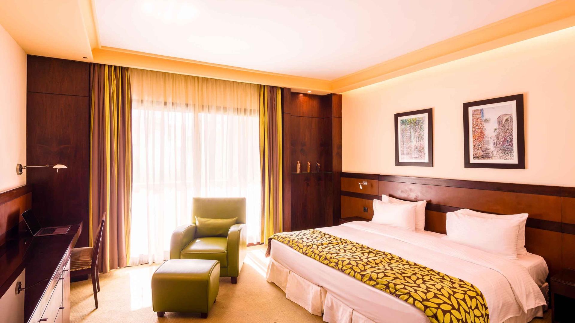 غرف النوم في  فندق كورال بيروت الحمراء