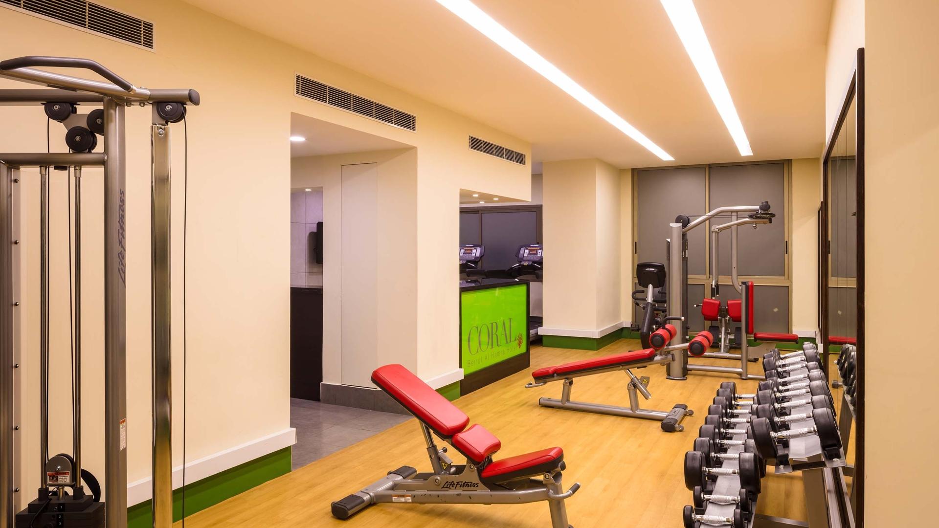 النادي الرياضي في فندق كورال بيروت الحمراء