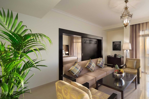 Bahi Ajman Palace Hotel Deluxe Suite Living Room