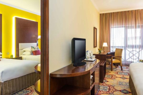 Coral Dubai Deira Hotel  Family Room tv